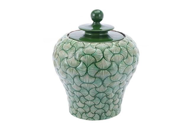 20 Inch Green Shell Textured Jar - 360