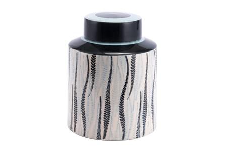 Leaf Patterned Jar - Main