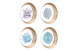 Succulent Art On Plates Set Of 4