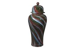 23 Inch Multicolored Swirl Jar