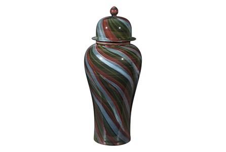 23 Inch Multicolored Swirl Jar - Main