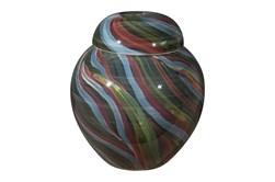 14 Inch Multicolored Swirl Jar