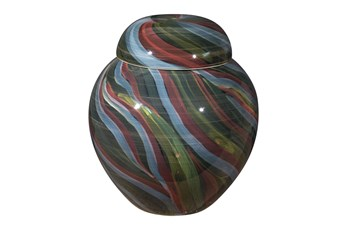 14 Inch Multicolored Swirl Jar
