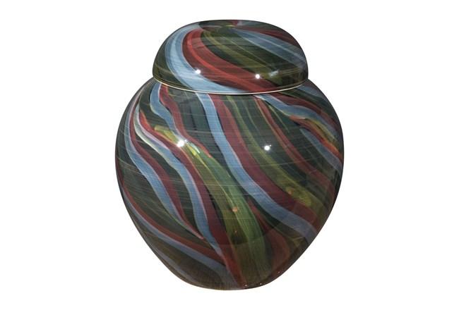 14 Inch Multicolored Swirl Jar - 360