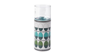 Retro Green And Teal Candle Holder
