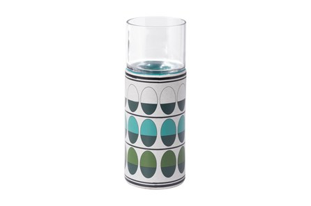 Retro Green And Teal Candle Holder - Main