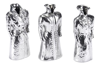 Silver Matte Figurine Set Of 3
