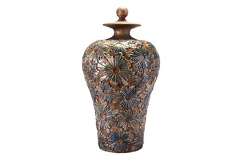 Patterned Brown Jar