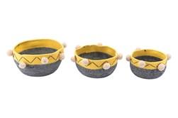 Multicolor Lagos Baskets Set Of 3