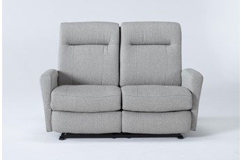 Zachery II Fabric Power Space Saver  Reclining Loveseat