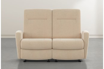 "Zachery II Almond Power Space Saver Console 77"" Reclining Loveseat"