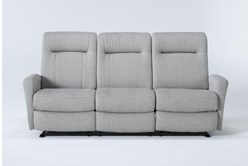 Zachery II Fabric Power Space Saver Reclining Sofa