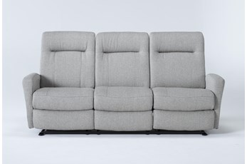 Zachery II Fabric Power Space Saver Reclining Sofa