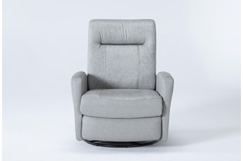 Zachery II Leather Power  Swivel Glider Recliner