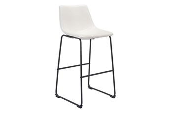 Bluff White 29 Inch Bar Stool