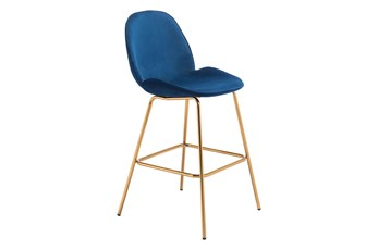 Siena Blue 29 Inch Bar Stool Set Of 2