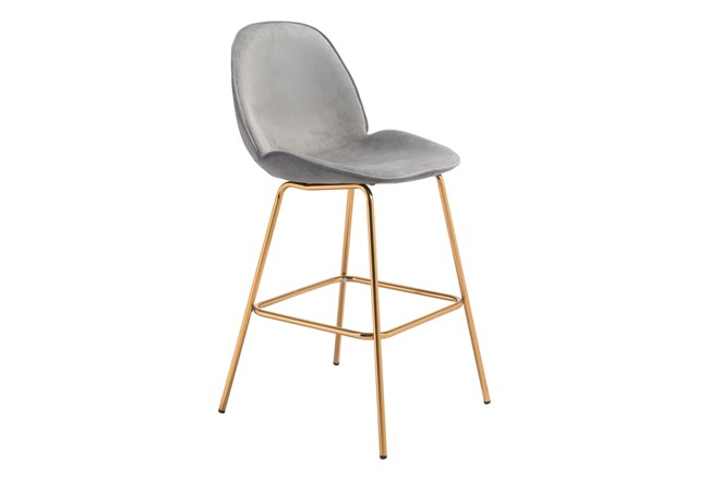 Heron Graphite 29 Inch Bar Stool Set Of 2 - 360