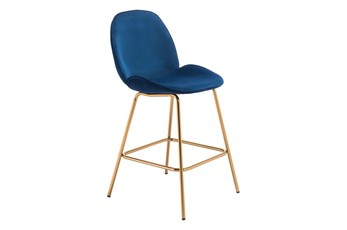 Heron Blue 27 Inch Bar Stool Set Of 2