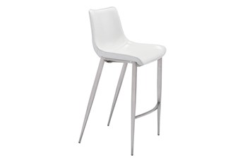 Sutton White 30 Inch Bar Stool Set Of 2