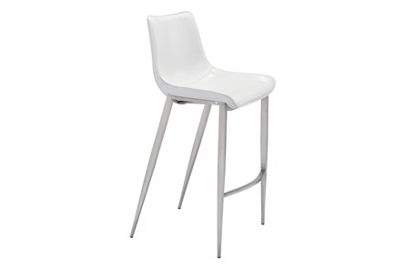 Sutton White 30 Inch Bar Stool Set Of 2 - Main