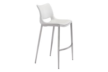 "Hoover White 29"" Bar Stool Set Of 2"