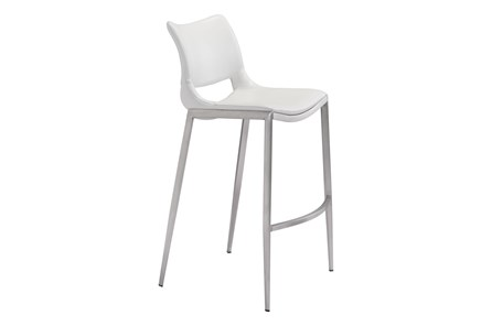 Hoover White 29 Inch Bar Stool Set Of 2 - Main