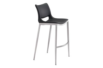 "Hoover Black 29"" Bar Stool Set Of 2"
