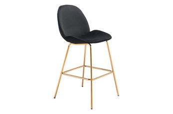 Siena Black 29 Inch Bar Stool Set Of 2