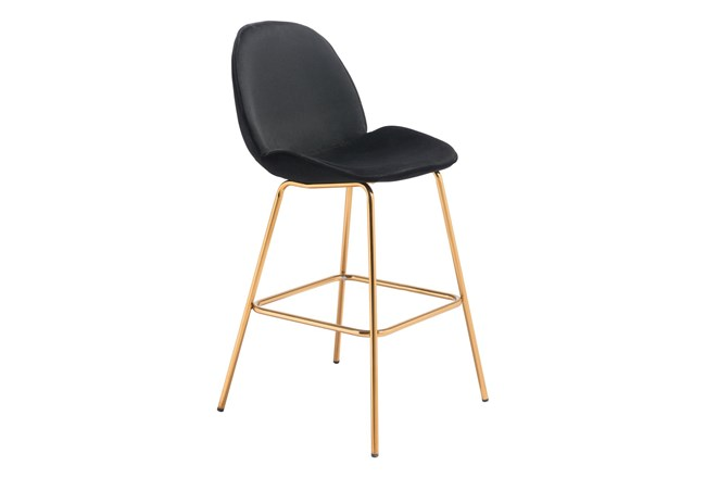 Heron Black 29 Inch Bar Stool Set Of 2 - 360