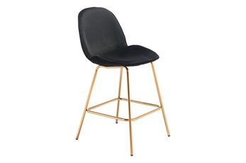 "Heron Black 27"" Bar Stool Set Of 2"