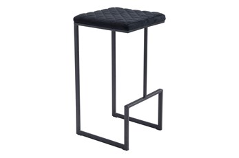 "Atom Black 30"" Bar Stool"