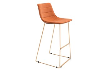 Adele Orange 26 Inch Bar Stool