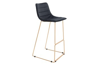 Adkins Black 26 Inch Bar Stool