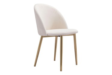 Comfy Cream Dining Side Chair Set Of 2