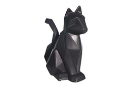 Ceramic 10 Inch Black Modern Cat Figurine