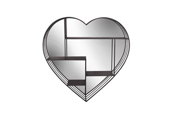 Heart Shaped Mirror With Geometric Shelves