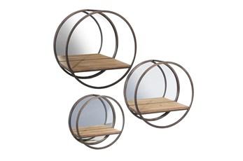 Circle Mirror Shelves Set Of 3