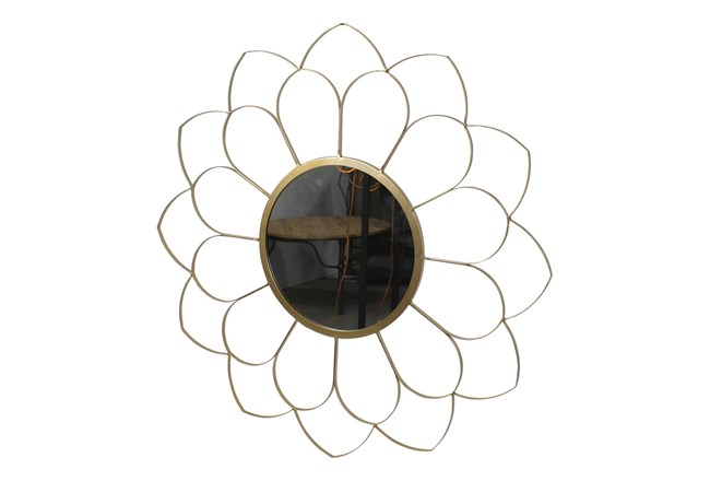 33 Inch Flower Wall Mirror  - 360