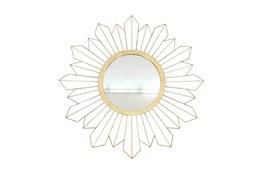 31 Inch Gold Sunburst Mirror
