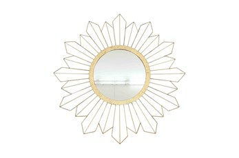 31 Inch Gold Sunburst Mirror