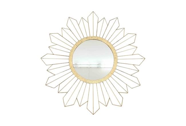 31 Inch Gold Sunburst Mirror - 360