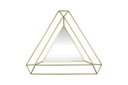 34 Inch Gold Triangle Mirror