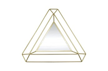 34 Inch Gold Triangle Mirror