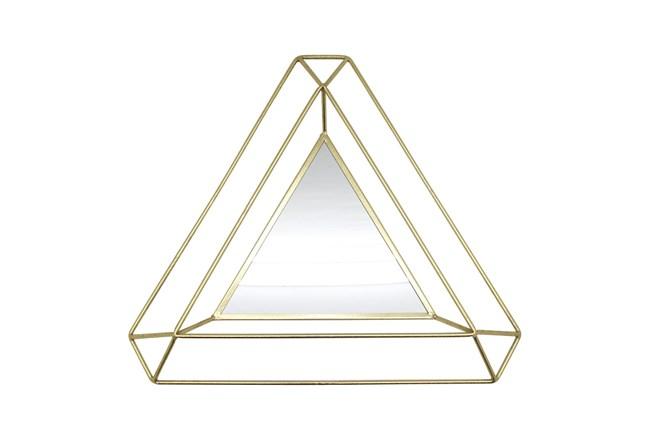34 Inch Gold Triangle Mirror - 360