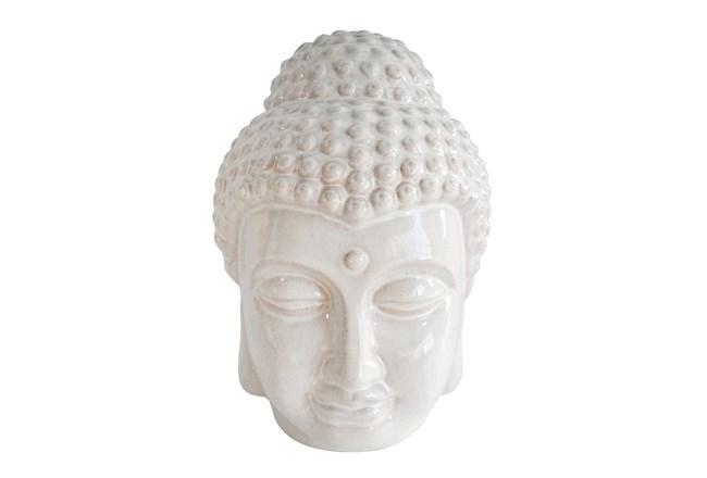 11Inch Ivory Buddha Head Figurine - 360
