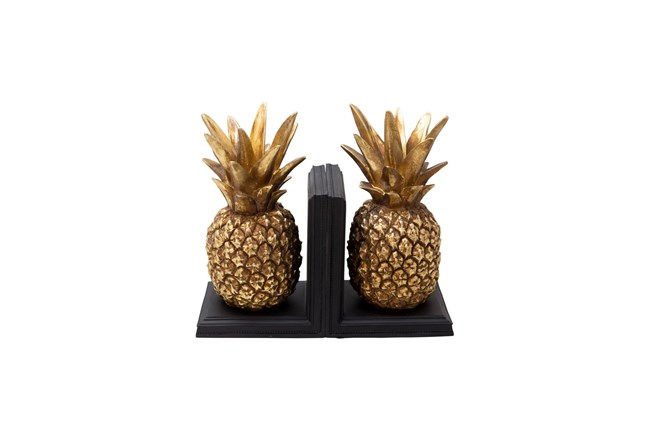 Gold Pineapple Bookends  - 360