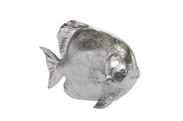 10 Inch Silver Fish Figurine