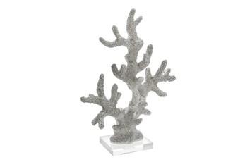 17 Inch White Coral Decor