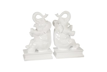 White Elephant Bookends