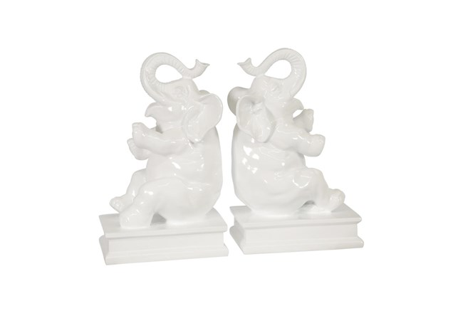White Elephant Bookends - 360